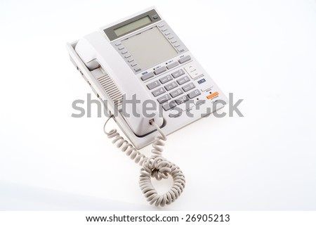 grey phone isolated on white
