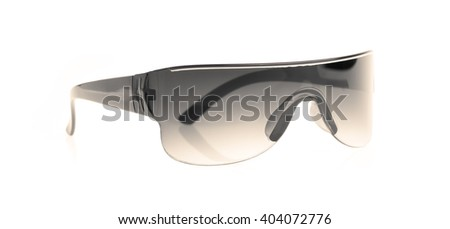 grey safety glasses isolated on the white background - stock photo