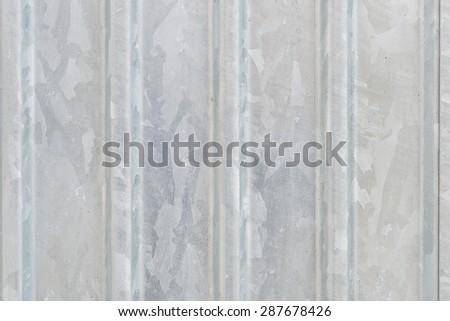 Grey steel wall - stock photo