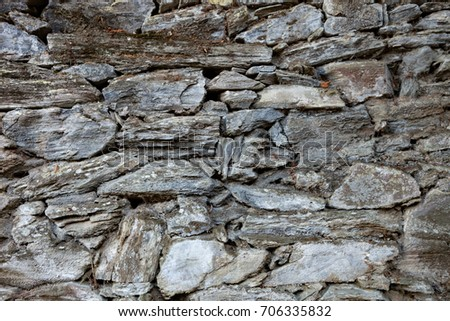 Grey stone wall to use as wallpaper