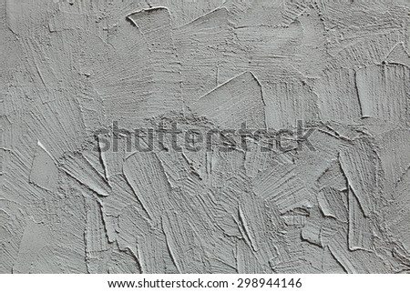 Grey stucco wall. Background texture. - stock photo