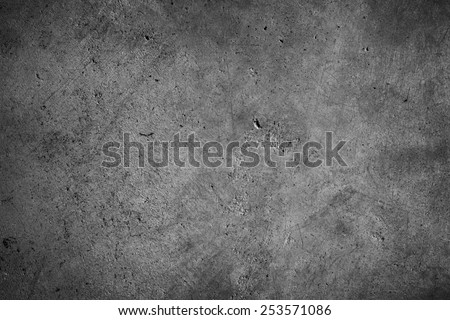 Grey textured concrete wall - stock photo
