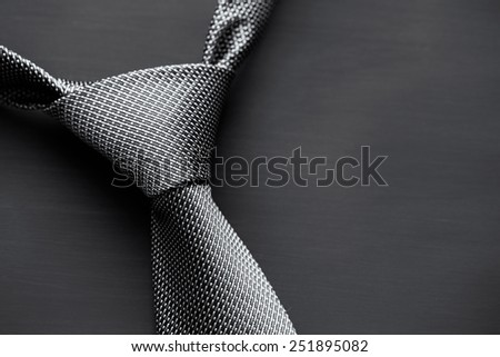 Grey tie - stock photo