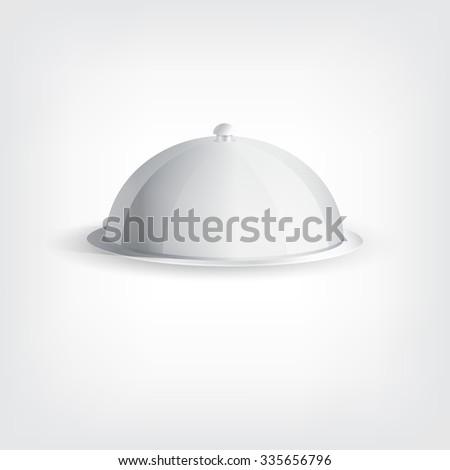 Grey tray, graphic design stylish concept  - stock photo