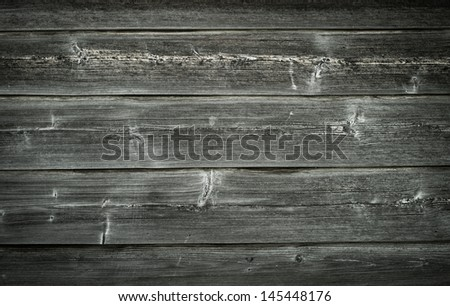 Grey wooden boards, grunge and old, texture background - stock photo