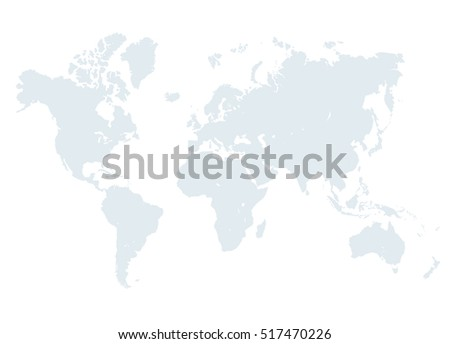 Grey world map vector illustration empty vectores en stock 438238663 grey world map illustration empty template without country names text isolated on white background gumiabroncs Choice Image