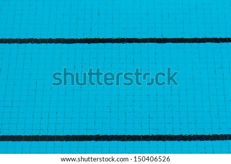 Grid of floor in swimming pool