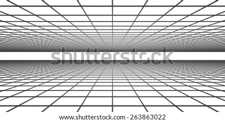 Grid of space - stock photo