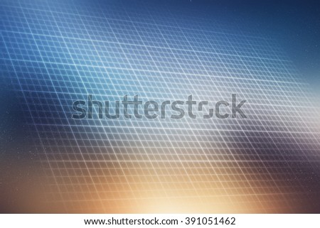 Grid space nebula digital illustration. - stock photo