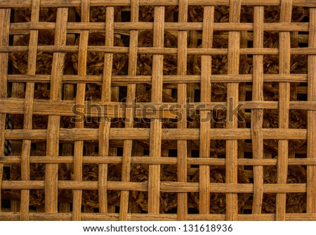 Grid to place wood a cross - stock photo