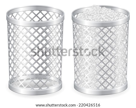 grid trash can illustration.