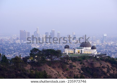 Griffith Observatory in Southern California downtown - stock photo