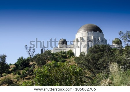 Griffith Observatory Los Angeles - stock photo