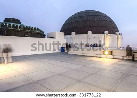 Griffith Observatory - Los Angeles, CA - planetarium dome - stock photo