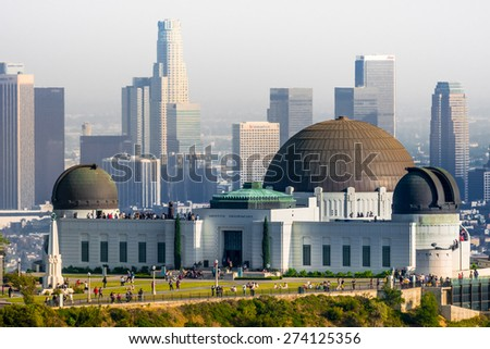 Griffith Park Observatory - stock photo