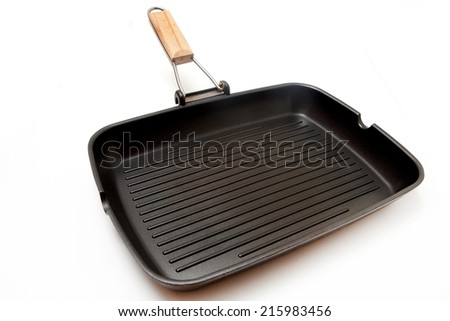 Grill pan isolated on white background - stock photo