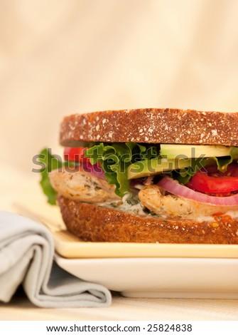 Grilled California Chicken Sandwich - stock photo