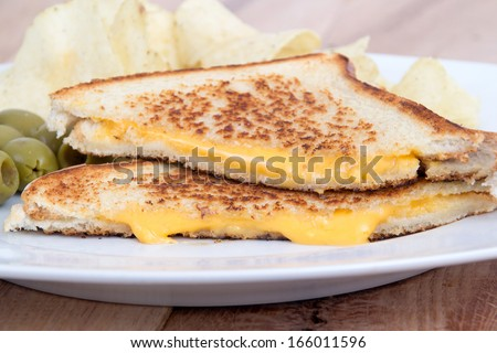 grilled cheese sandwich - stock photo