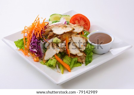 Grilled Chicken Salad - stock photo