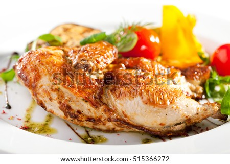 Grilled Chicken with BBQ Vegetables