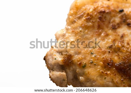 grilled chiken isolated on white background
