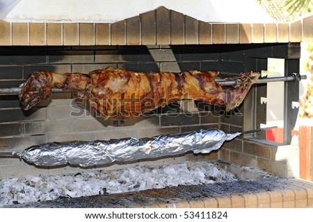 Grilled Lamb - stock photo