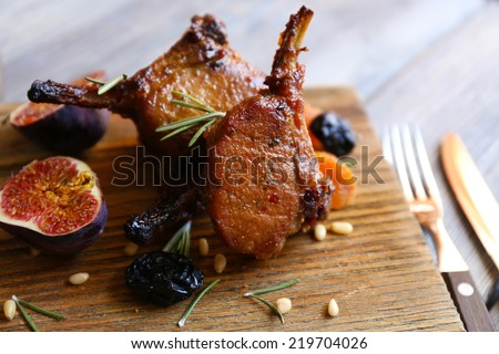 Grilled Lamb steak - stock photo