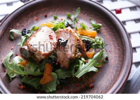 Grilled Lamb steak - stock photo