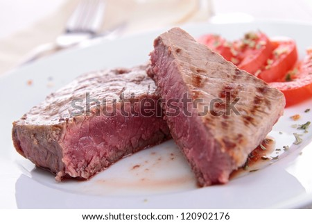 grilled meat beef