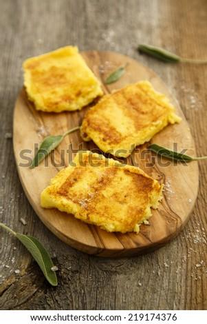 Grilled polenta - stock photo