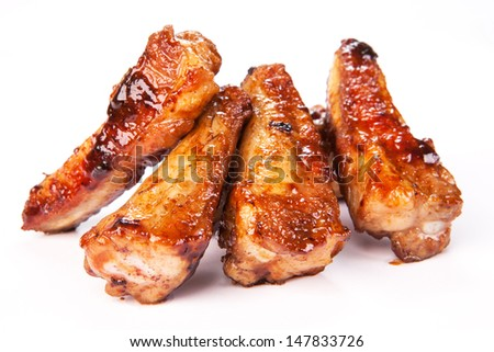 Grilled pork meat - stock photo