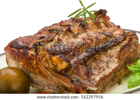 Grilled pork with rosemary