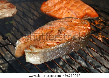how to cook fish steaks on bbq