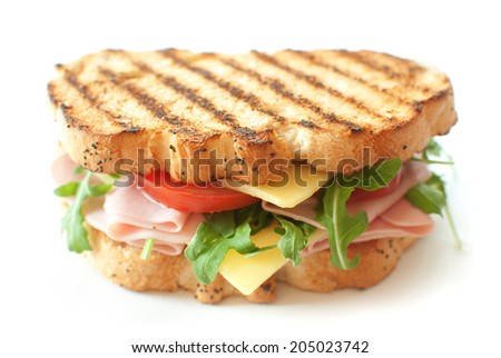 Grilled sandwich  - stock photo