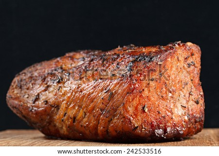 Grilled steak cooked for eating. - stock photo