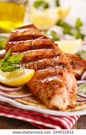 Grilled tandoori chicken - stock photo