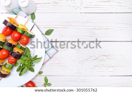 Grilled vegetables. Background.