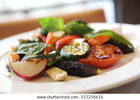 grilled vegetables with balsamic