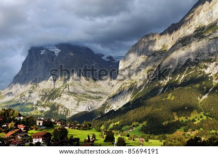 Grindelwald Village, Switzerland - stock photo