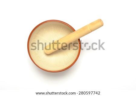Grinder bowl on white background  - stock photo