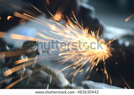 Grinding and sparks