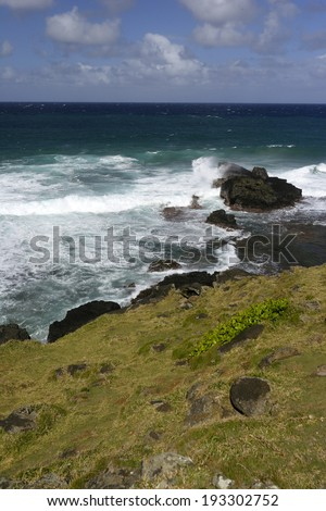 Gris Gris Beach, cape on South of Mauritius - stock photo