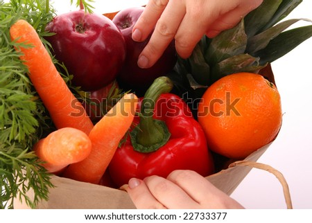 Grocery bag - stock photo