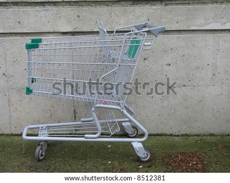 grocery cart - stock photo