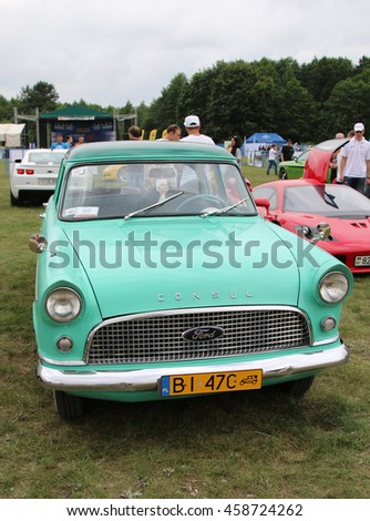 "Grodno, Belarus, 23 July 2016: Demonstration of cars in the Festival of cars ""SunDay AutoGrodno 2016""."