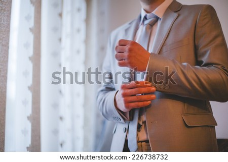 groom dress - stock photo