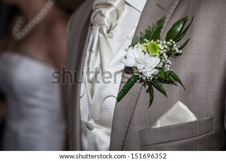 groom in a suit  - stock photo