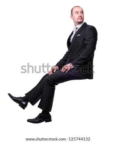 groom portrait isolated on white background