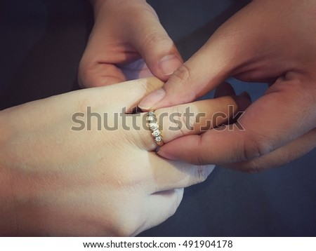 Groom Wear Wedding Ring Focus Light Stock Photo Royalty Free