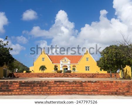 Groot Santa Martha Curacao   in the Dutch Antilles a Caribbean Island - stock photo
